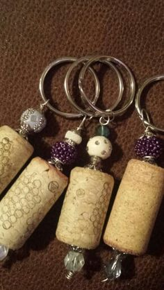 Wine Cork Key Chains!