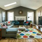 Mid Century Modern Living Room - Transitional - Family Room - providence - by Fresh Nest Color & Design