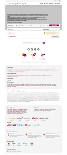 German Wings homepage at germanwings.com a few hours after the crash of flight 4U 9525 from Barcelona to Düsseldorf in the French Alps on March 24th 2015.