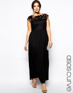 Image 4 of ASOS CURVE Gothic Maxi Dress