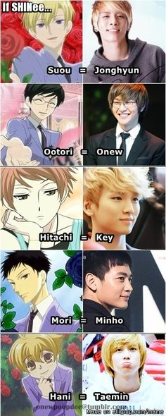 If SHINee are Ouran High School Club characters... kyaaa~~!! <3 | allkpop Meme Center