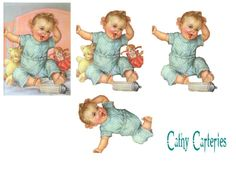 very good site lots of Vintage Baby Pictures, Image 3d, Baby Scrapbook, Baby Cards, Vintage Cards, Winnie The Pooh, Miniature, Projects To Try, Card Making