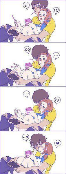 Aqui esta!! :D <3 Un beso tuyo arregla y recompensa todo <3 :)