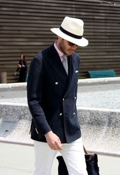 White jeans seem to be popping up a lot in menswear at the minute. I hope it's big for summer, this is a great look