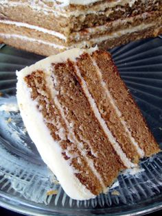Spice Cake with Caramel Cream Cheese Frosting - A Hint of Honey