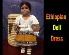 Ethiopia Doll Dress 6 by CCIWorld on Etsy, $15.00   #Ethiopia #doll #adoption #internationaladoption #dollclothes #orphans #ethiopiandresses #Guatemala