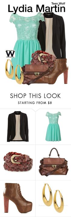 """""""Teen Wolf"""" by wearwhatyouwatch ❤ liked on Polyvore featuring Vila Milano, Forever 21, Salvatore Ferragamo, Jeffrey Campbell, television and wearwhatyouwatch"""