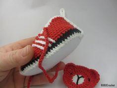 Вязание крючком Адидас вдохновил теннисные туфли ручной работы BUBUCrochet
