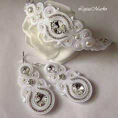 Handmade Beaded Jewelry, Boho Jewelry, Handcrafted Jewelry, Wedding Jewelry, Jewelery, Fashion Jewelry, Soutache Bracelet, Soutache Jewelry, Beaded Necklace