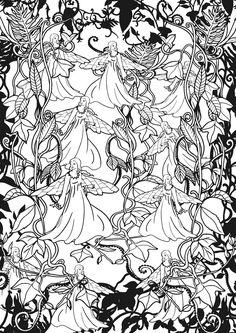 Amazon.fr - Forêts féeriques: 100 coloriages anti-stress - Marthe MULKEY - Livres