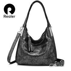 REALER women handbags genuine leather shoulder bag vintage top-handle bags high quality with tassel messenger bag totes female. Yesterday's price: US $95.12 (78.47 EUR). Today's price: US $44.71 (36.79 EUR). Discount: 53%.