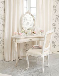 Details About White Wooden Dressing Table Set Triple