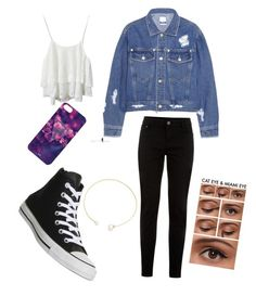 """""""Outfit 2"""" by whereisalyssa ❤ liked on Polyvore featuring Steve J & Yoni P, New Look, Converse and Fallon"""