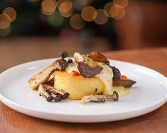 Polenta gratin with sautéed wild mushrooms Mushroom Polenta, Mushroom Toast, Taleggio Cheese, Polenta Recipes, Sauteed Mushrooms, All Vegetables, Xmas, Christmas, Yule