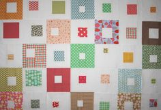 spotted-squares quilt