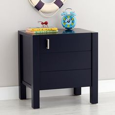 The Uptown Nightstand features clean, crisp lines for a modern look in four easy-to-coordinate finishes. Blue Kids Furniture, Blue Nightstands, Diy Living Room Decor, Home Decor, Kids Bedroom Designs, Bedroom Ideas, Blue Bedding, Fashion Room, Solid Oak