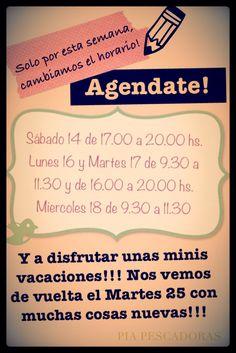 Agendate!✏✏✏