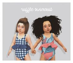 Pure Sims: Ruffle swimsuit • Sims 4 Downloads