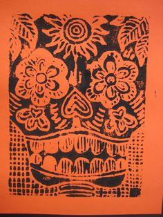 Day Of The Dead / Dia De Los Muertos | TeachKidsArt print making