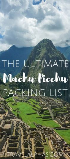 Visiting Peru soon? Here is our Machu Picchu Packing List, with everything you need for the Inca Trail.
