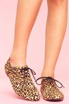 Jansen Leopard Oxford - NASTY GAL - StyleSays