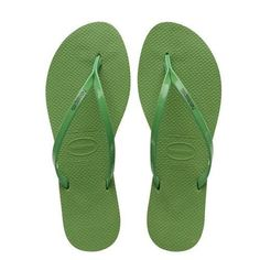 b99578c13452f NEW HAVAIANAS WOMENS YOU METALLIC FLIP FLOPS GREEN BAMBOO  fashion   clothing  shoes
