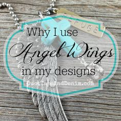 Even though I create jewelry that means something to me sometimes I forget what I'm wearing or why I created it in the first place. I had that experience Sunday when someone asked me what the wing on my necklace. Angel Wings, Jewelry Crafts, My Design, Jewelry Design, Pjs, Party, Forget, Sunday, Bling