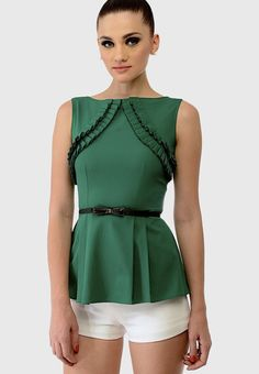 38be97cc39 Buy Swatee Singh Green Solid Blouse Online - 2791467 - Jabong