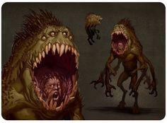 The Binding Of Lincoln: The Fallen Angel Fantasy Monster, Monster Art, Dark Creatures, Mythical Creatures, Creature Feature, Creature Design, Cthulhu, Dark Fantasy, Fantasy Art
