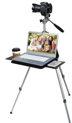 TriPad :  camera tripod + laptop desk