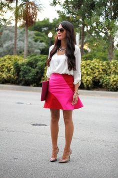 Pink And Red Flare