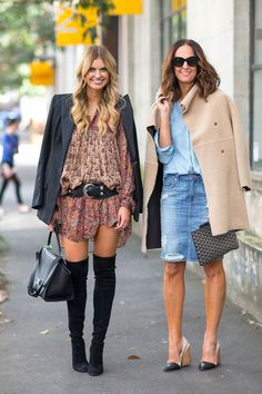 Street Style from Australia Fashion Week Spring 2014.