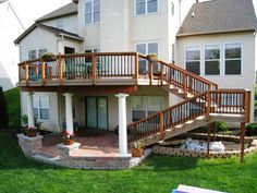Story Deck In Delaware County Oh With Landing On Stairs