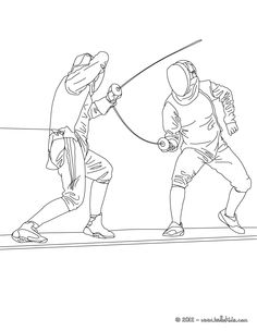 FENCING sport coloring page