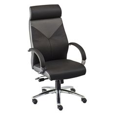Highland Two Tone Leather Executive Chair | National Business Furniture
