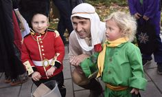 Justin and Hadrien were joined by other trick-or-treaters.
