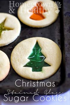 I love this idea! stained glass sugar cookies for Christmas!
