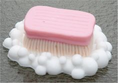 Silk and Shea Butter novelty soap scrub brush set/3 by MattieBow, $5.50