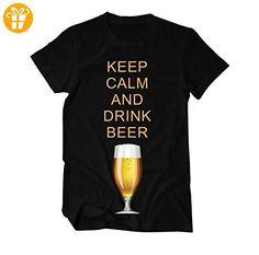 Keep calm and drink Beer Fun T-Shirt Herren XX-Large Schwarz (*Partner-Link)