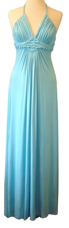 If only I knew how to make a halter more modest! Anyone know how to alter a halter? Haha! Aqua braided halter maxi dress