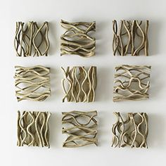 Wood, vine, bark and branch – what used to be discarded is now used to create the loveliest of all home décor. The Phillips Collection actively collaborates with Thailand to source Green wood and use renewable resources. Driftwood Wall Art, Driftwood Crafts, Wall Decor Crafts, Diy Wall Art, Wood Wall Tiles, Ceramic Texture, Wood Christmas Tree, Sculpture Projects, Vine Wall