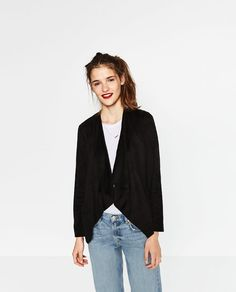 Image 2 of SUEDE-EFFECT JACKET from Zara