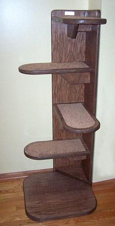 The Alexa Corner Cat Tree | The Vertical Cat - Contemporary Cat Furniture, Trees, Shelves and Stairs | Create a room with No Corners
