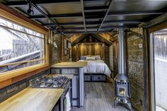 Earth and Sky Palace Luxurious Tiny House on Wheels Tiny House Movement // Tiny Living // Tiny House Bedroom // Tiny Home Kitchen // Tiny House Luxury, Best Tiny House, Tiny House Cabin, Tiny House Plans, Tiny House Design, Tiny House On Wheels, Home Design, Luxury Homes, Design Ideas
