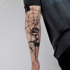 Spider Web Tattoo Elbow, Elbow Tattoos, Hand Tattoos, Snake Tattoo, Tatoos, Poker Tattoo, Spiderman Tattoo, Movie Tattoos, Taurus Tattoos