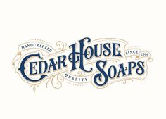 Final logotype for @cedarhousesoaps  colored version