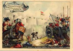 Portuguese army siege Fort S.Miguel in Luanda held by Dutch forces - Reconquest of Angola Campaign 1640