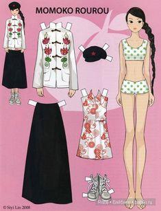 Бумажные версии кукол Momoko