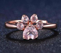 Sterling Silver Rose Paw™ Ring