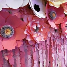 DIY Paper Flower Backdrop for Parties made with the Silhouette